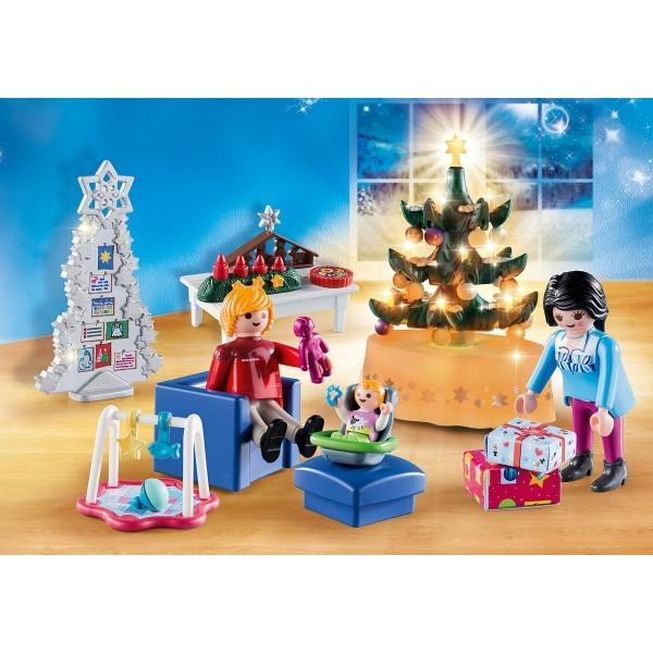 Sufrageria decorata de craciun playmobil christmas - 1