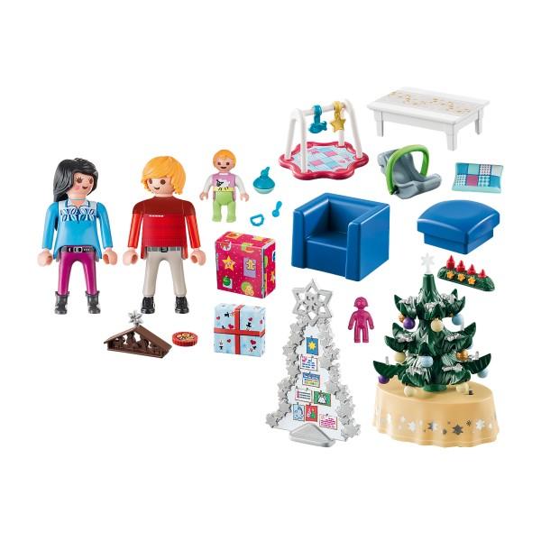 Sufrageria decorata de craciun playmobil christmas - 3