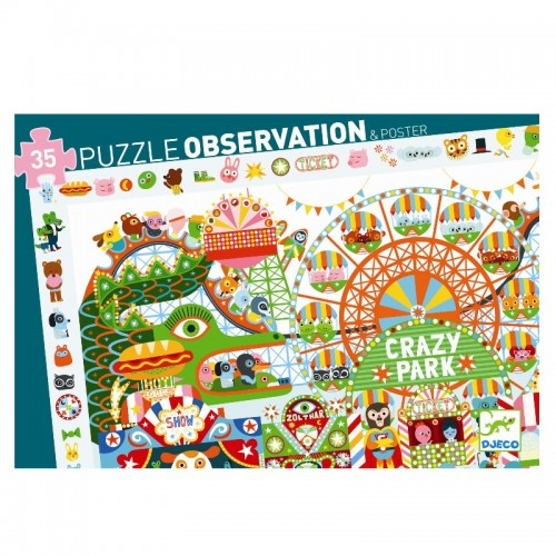 Puzzle observatie parcul de distractii djeco