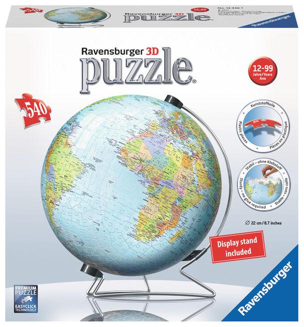 Puzzle 3d pamantul 540 piese ravensburger imagine