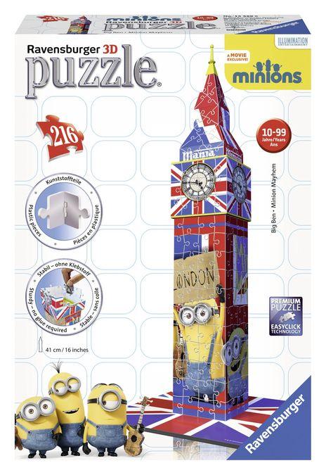 Puzzle 3d big ben minions 216 piese ravensburger imagine