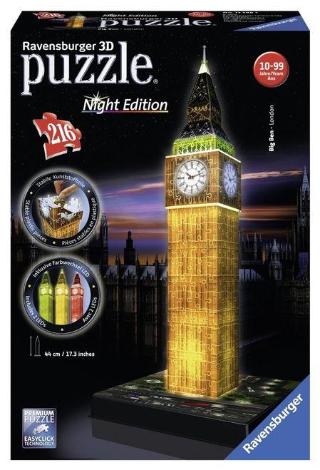 Puzzle 3d big ben luminos 216 piese ravensburger imagine