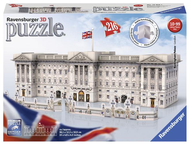 Puzzle 3d buckingham 216 piese ravensburger imagine