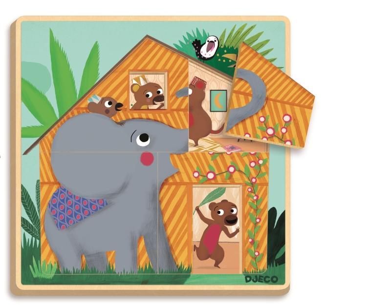 Puzzle straturi cabana djeco imagine