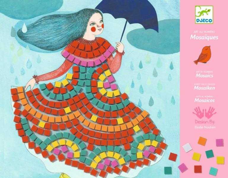 Mozaic joc creativ rochii de bal djeco imagine
