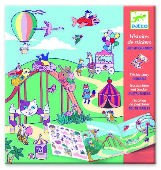 Planse cu abtibilduri repozitionabile locul de joaca djeco imagine