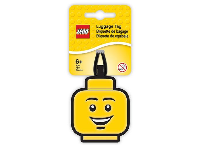 Eticheta bagaje cap minifigurina baiat lego