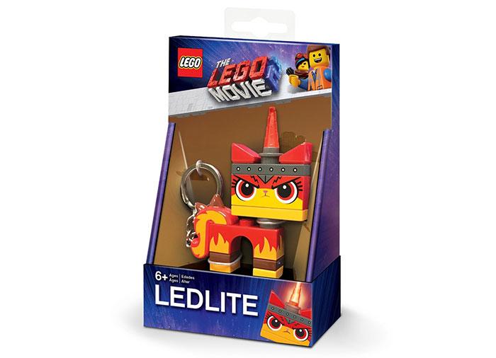 Breloc cu lanterna lego movie 2 angry kitty imagine