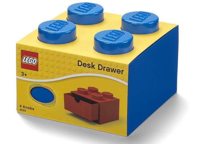 Sertar de birou lego 2x2 albastru imagine