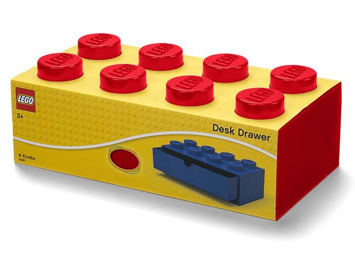 Sertar de birou lego 2x4 rosu imagine