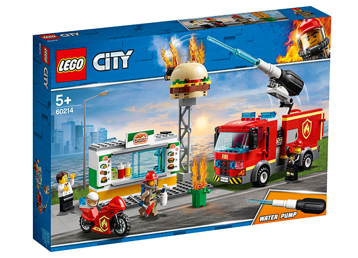 Stingerea incendiului de la burger bar lego city