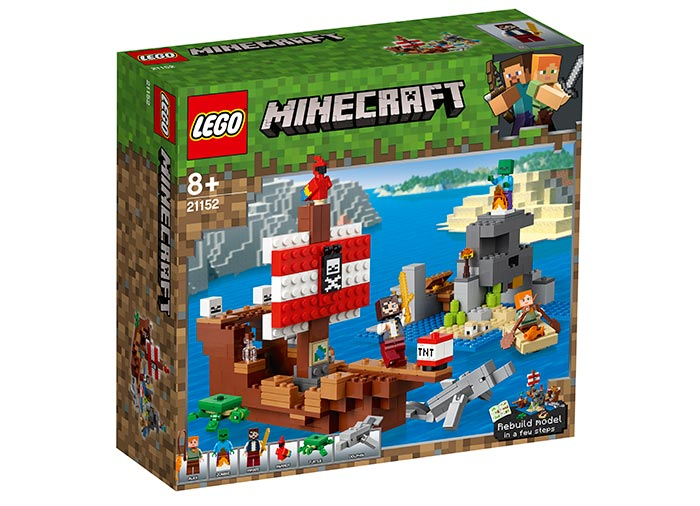 Aventura corabiei de pirati lego minecraft