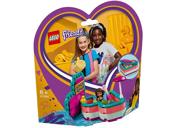 Cutia de vara in forma de inima a andreei lego friends