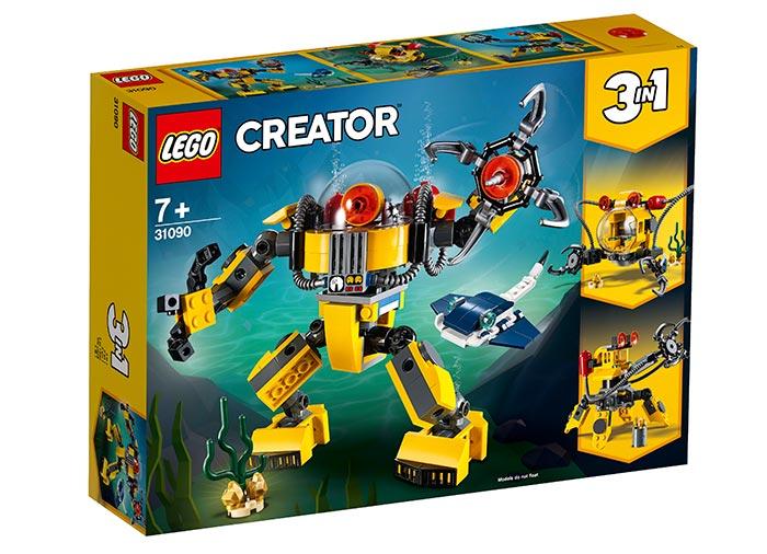 Robotel subacvatic lego creator