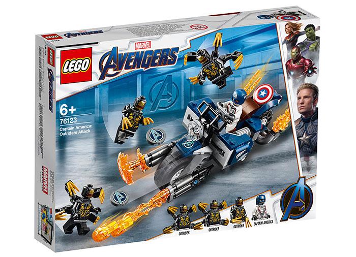 Captain america atacul outriderilor lego marvel super heroes