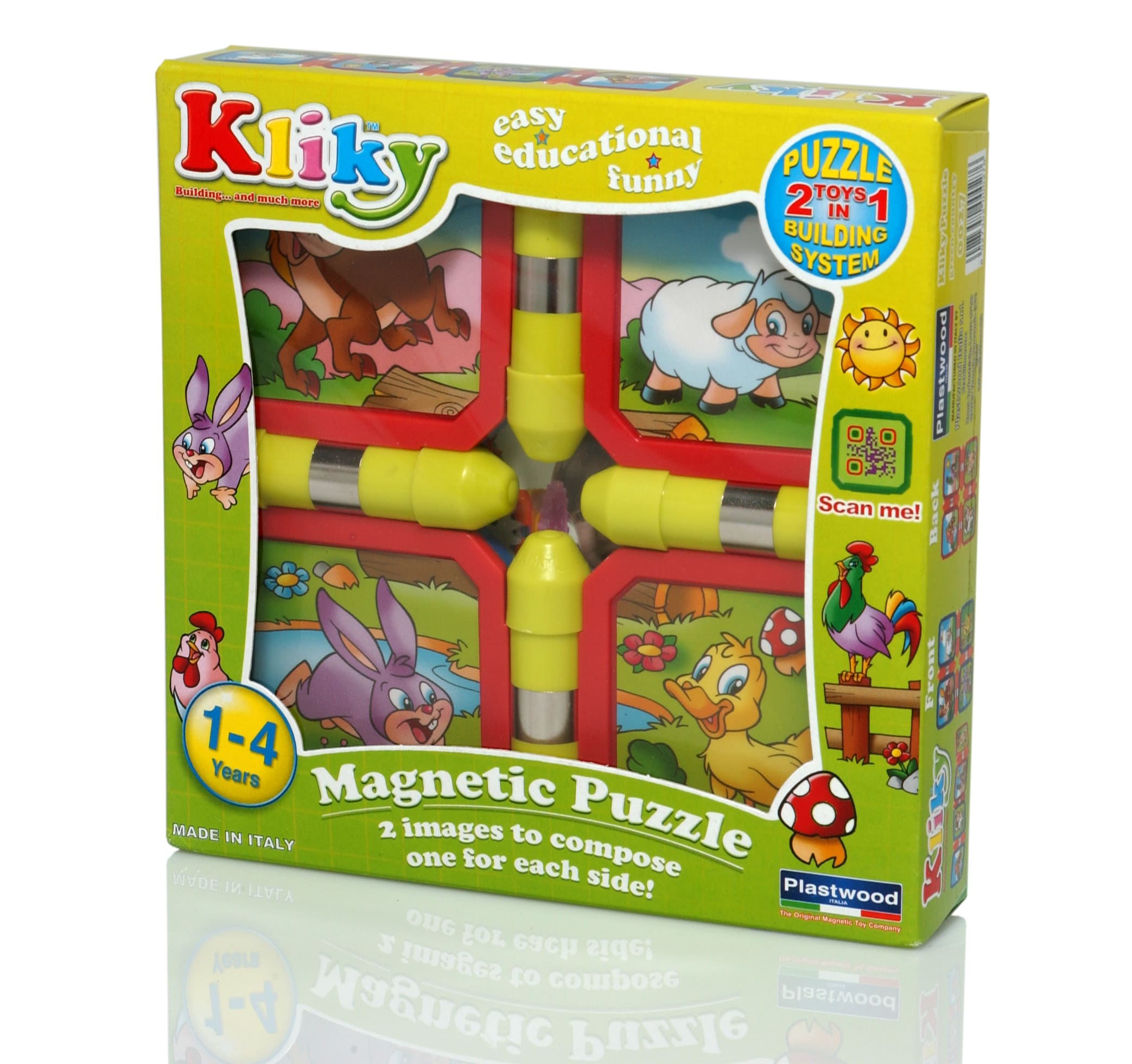 Puzzle constructie magnetic ferma kliky supermag imagine