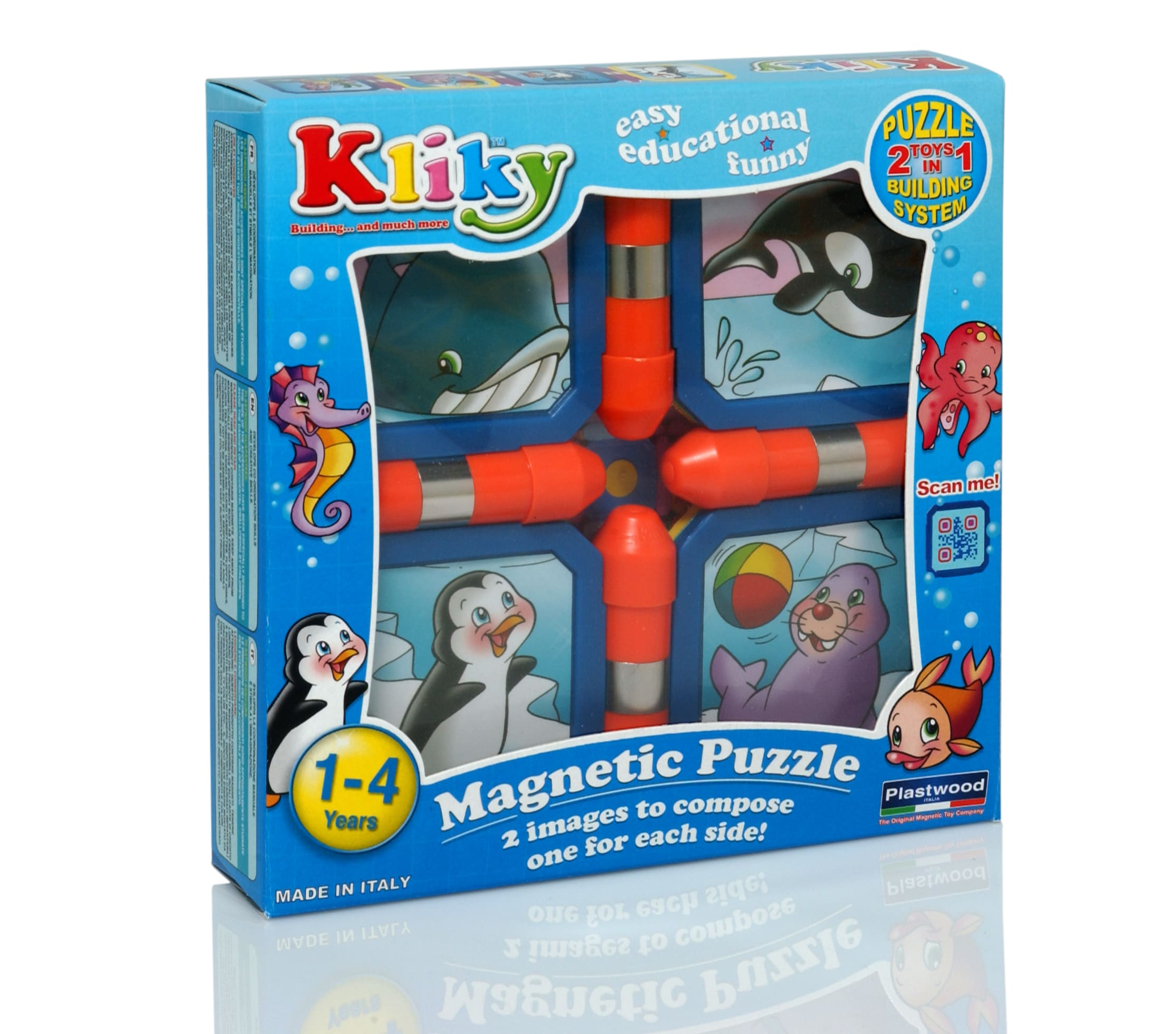 Puzzle constructie magnetic animale marine kliky supermag imagine