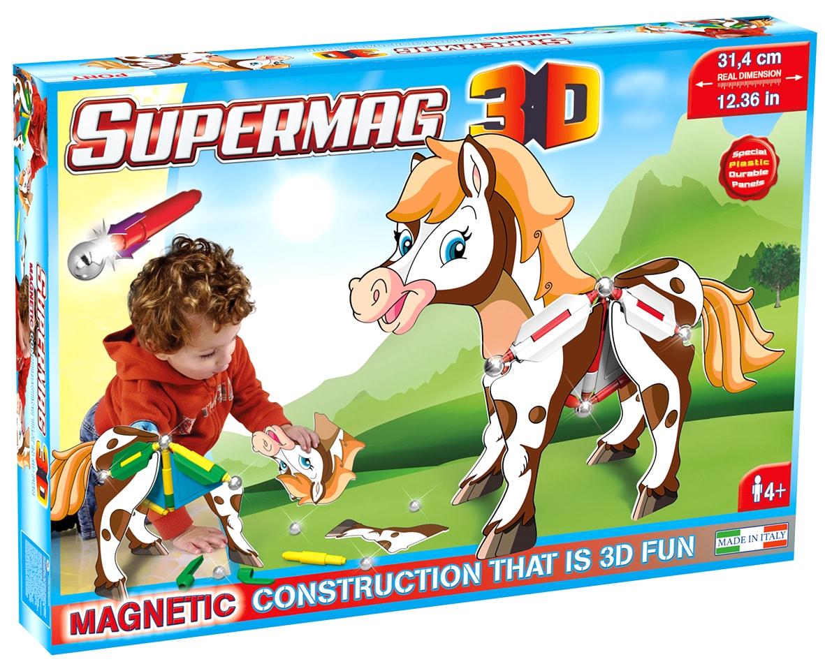 Jucarie cu magnet ponei 31 piese 3d supermag imagine