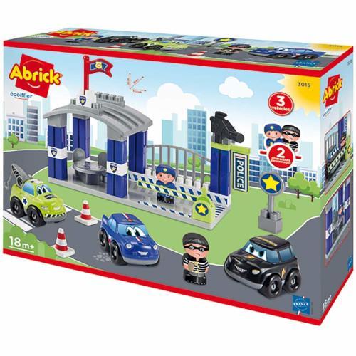 Joc de construit statia de politie abrick ecoiffier imagine