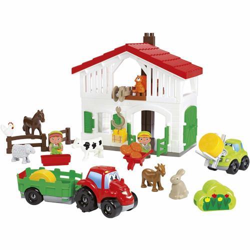 Cuburi de construit ferma cu tractor si animale abrick ecoiffier imagine