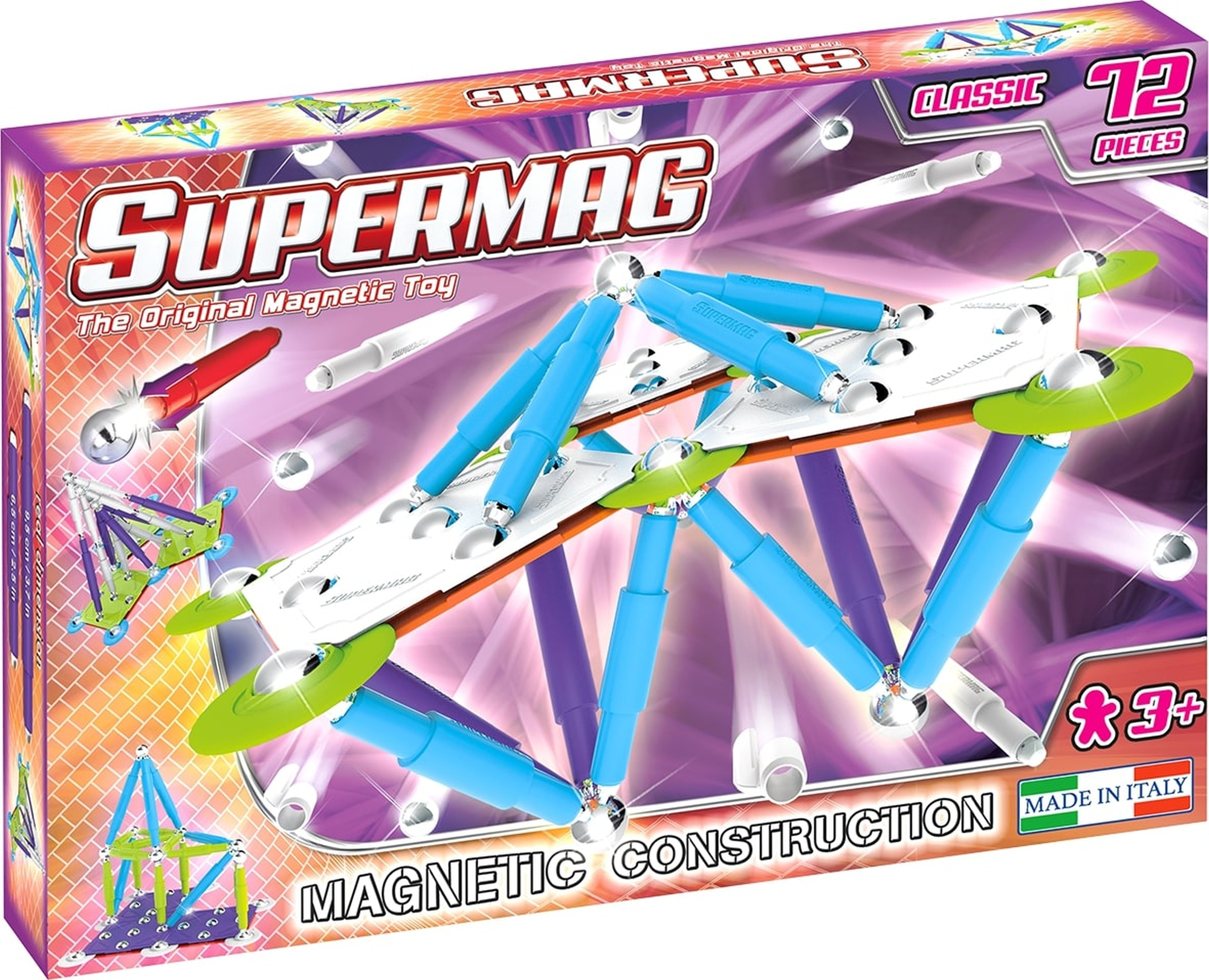 Set constructie magnetic 72 piese classic trendy supermag imagine
