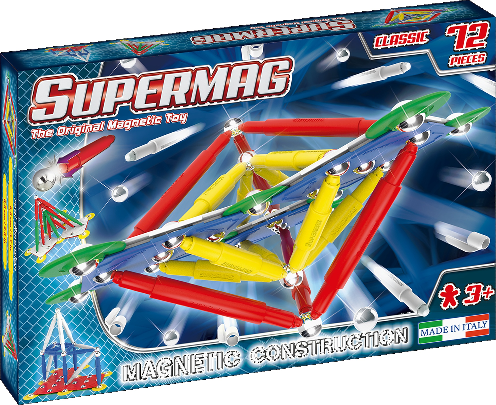 Set constructie magnetic 72 piese classic primary supermag imagine