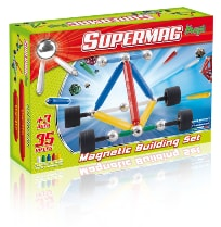 Set constructie magnetic 44 piese maxi wheels supermag imagine