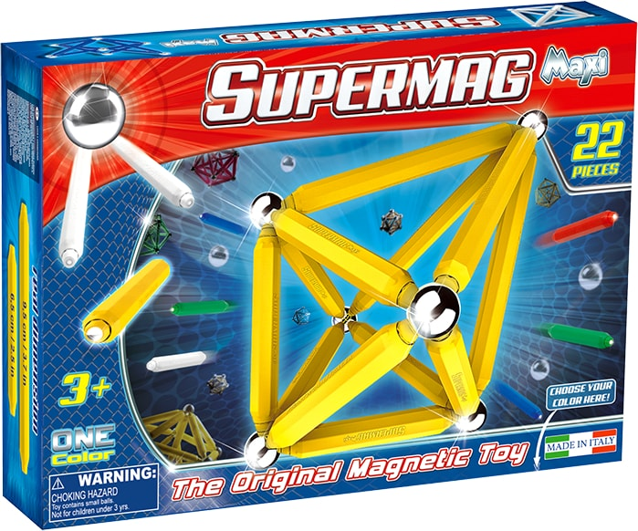 Set constructie magnetic 22 piese maxi supermag imagine