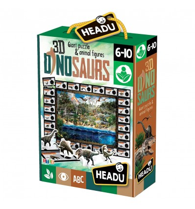 Puzzle 3d cu dinozauri headu imagine