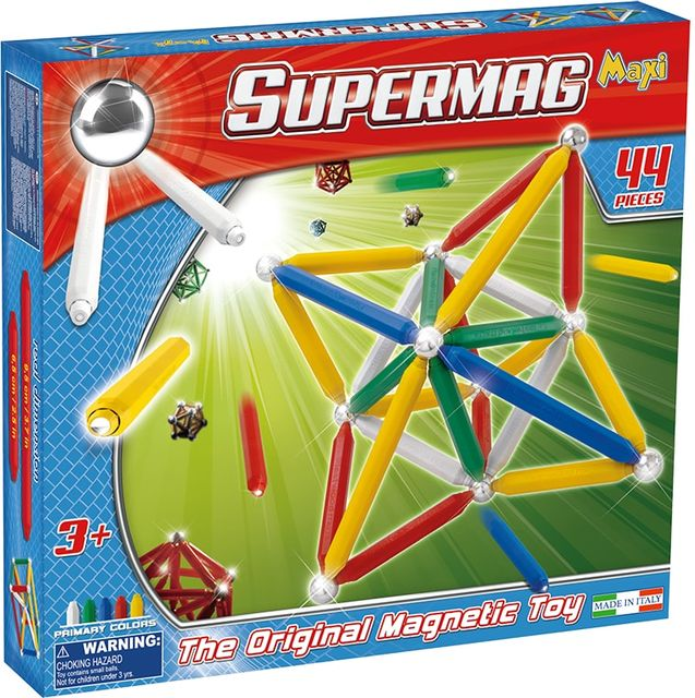 Set constructie magnetic 44 piese primary supermag imagine