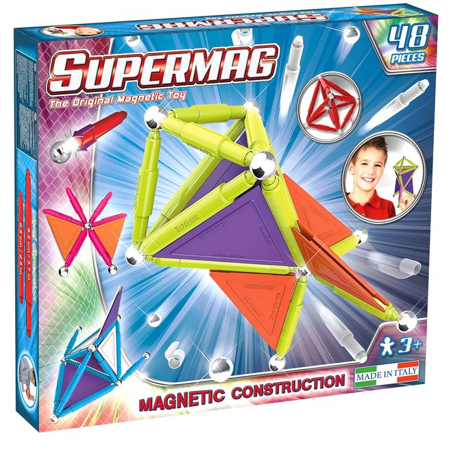 Set constructie magnetic trendy 48 piese supermag imagine