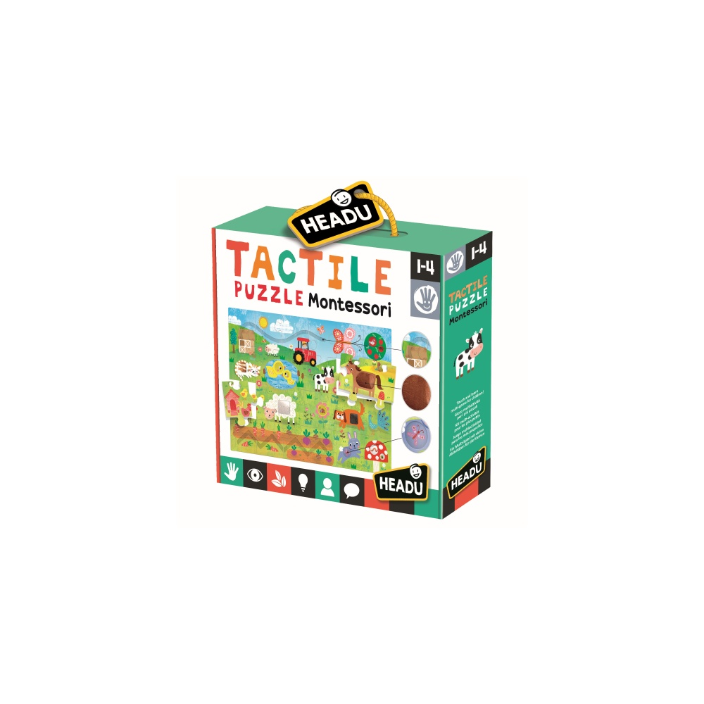 Joc montessori puzzle tactil headu