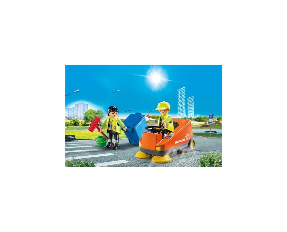 Agenti de salubritate cu masina playmobil city life - 2