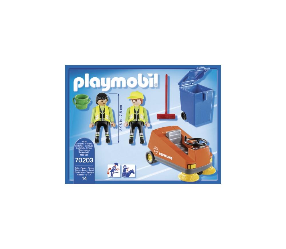 Agenti de salubritate cu masina playmobil city life - 1