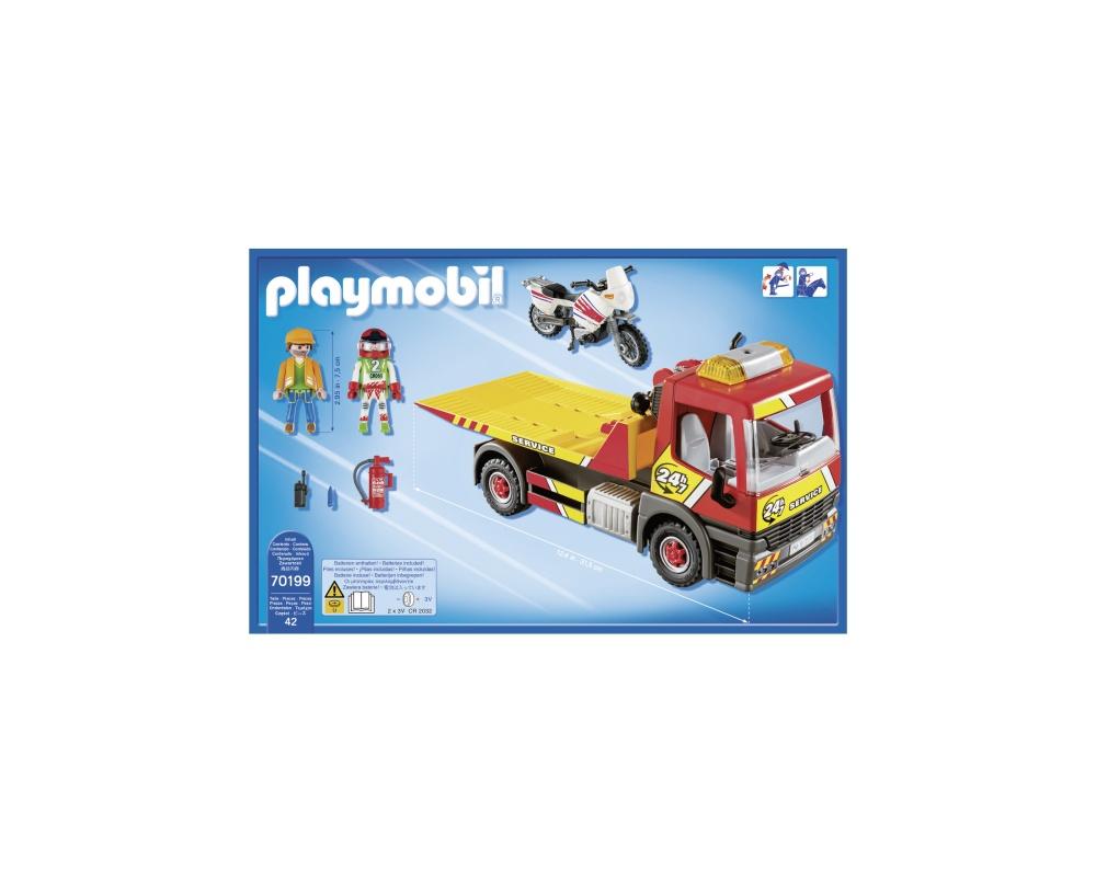 Masina de remorcare cu motocicleta playmobil city life - 1