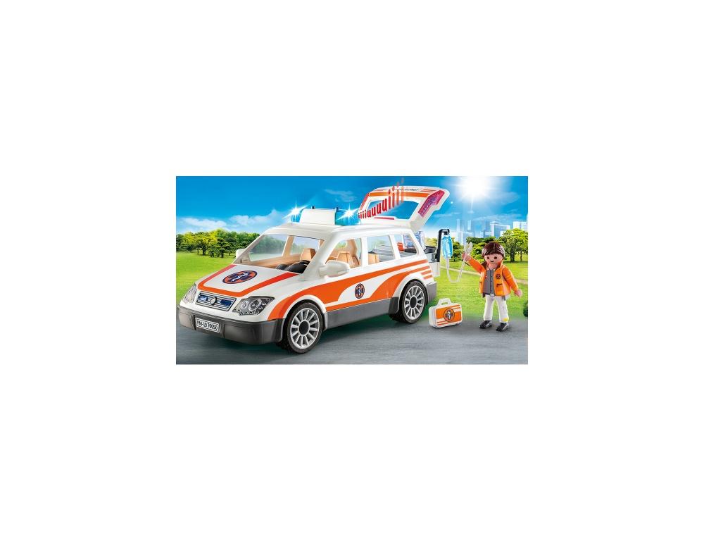 Masina de urgenta cu sirena playmobil city life - 2