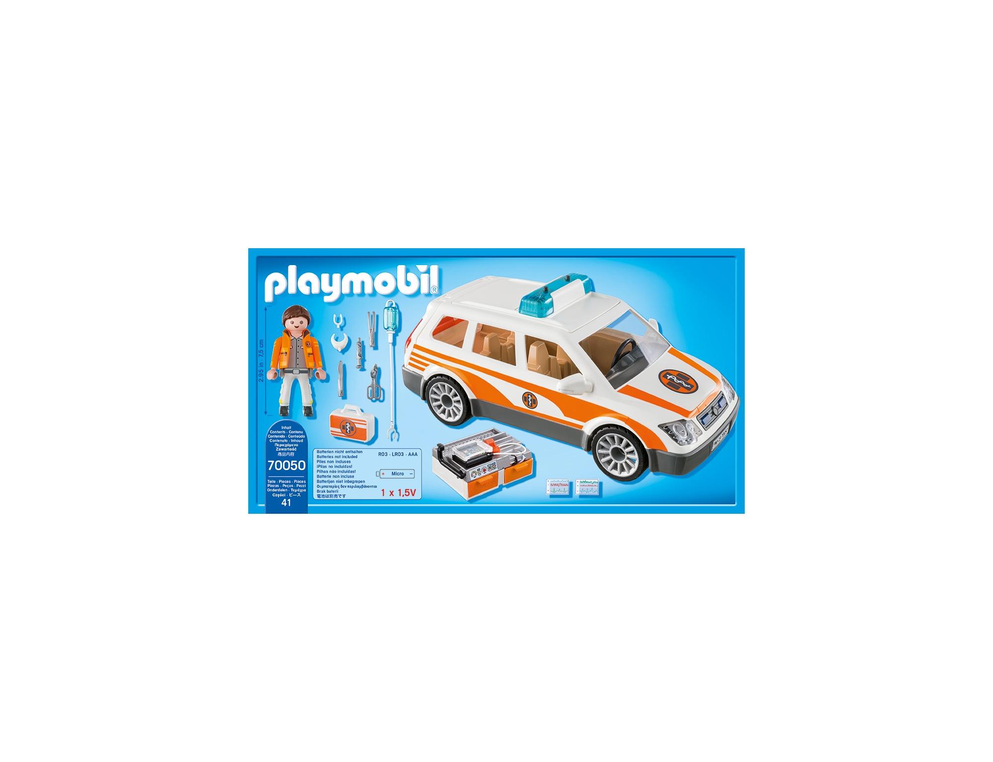 Masina de urgenta cu sirena playmobil city life - 1