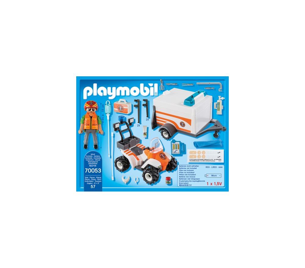 Medic cu atv si remorca playmobil city life - 1