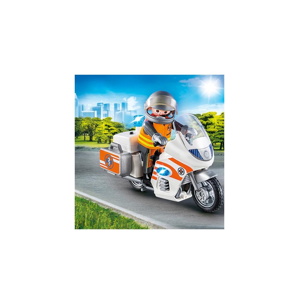 Motocicleta de urgenta cu lumini playmobil city life - 2