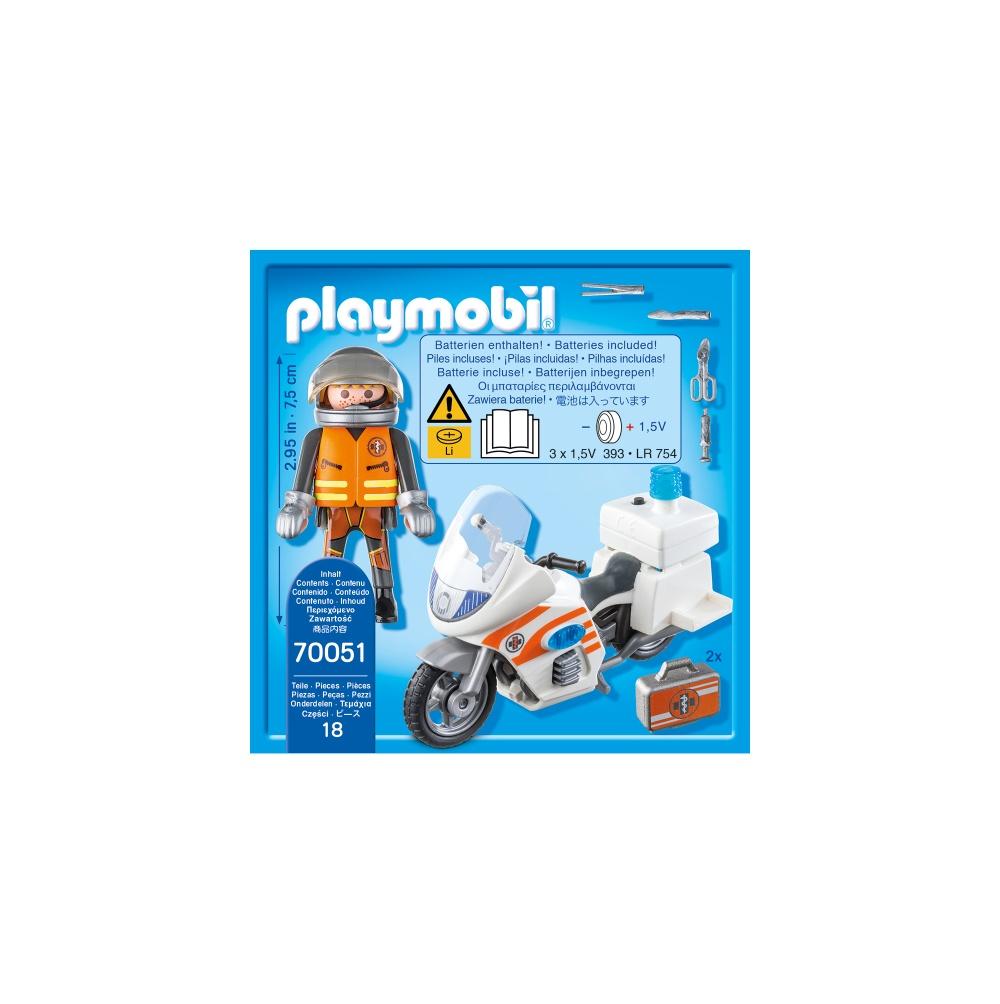 Motocicleta de urgenta cu lumini playmobil city life - 1