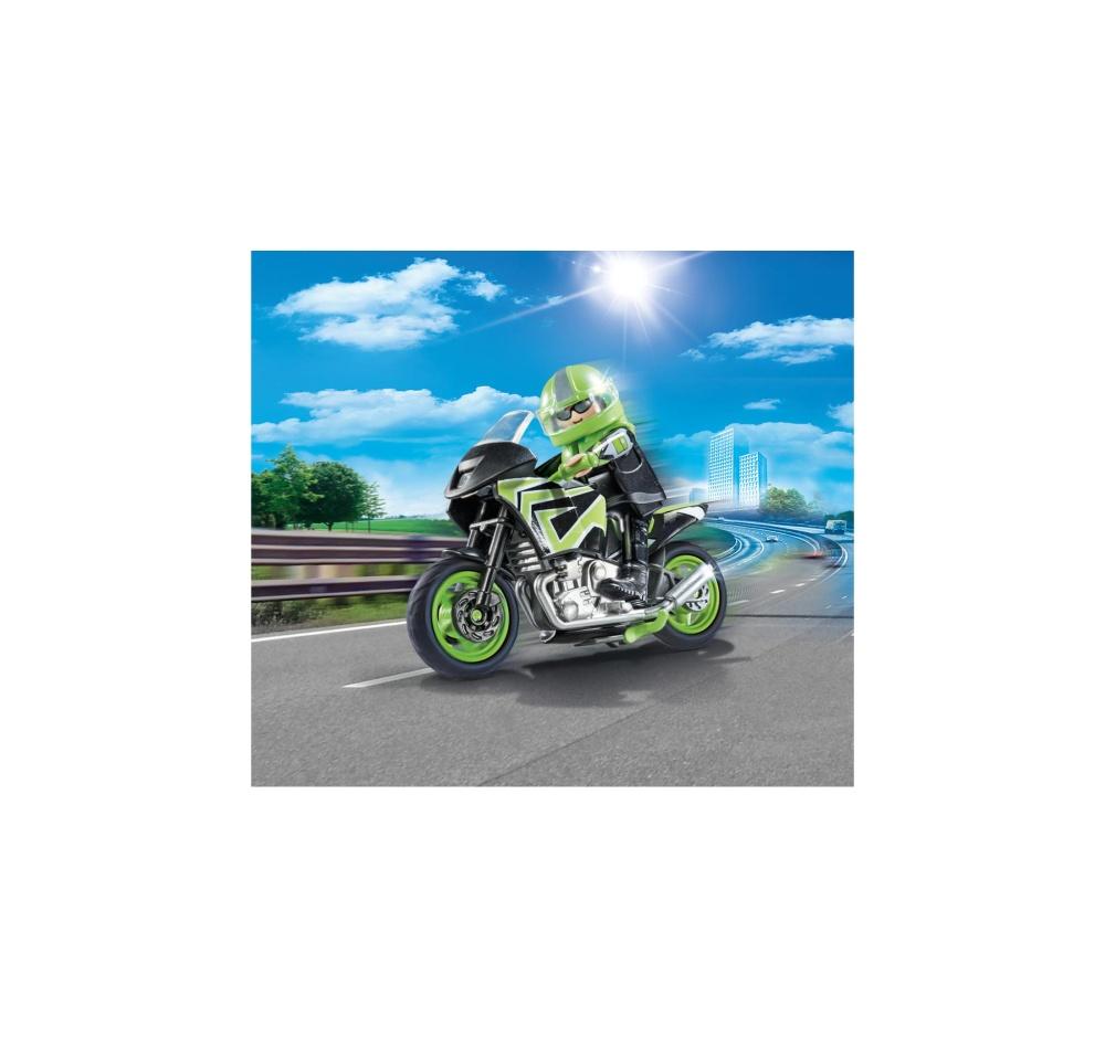 Motocicleta de viteza playmobil city life - 2
