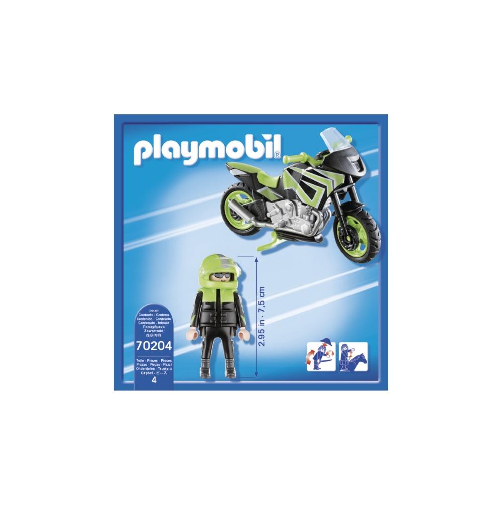 Motocicleta de viteza playmobil city life - 1