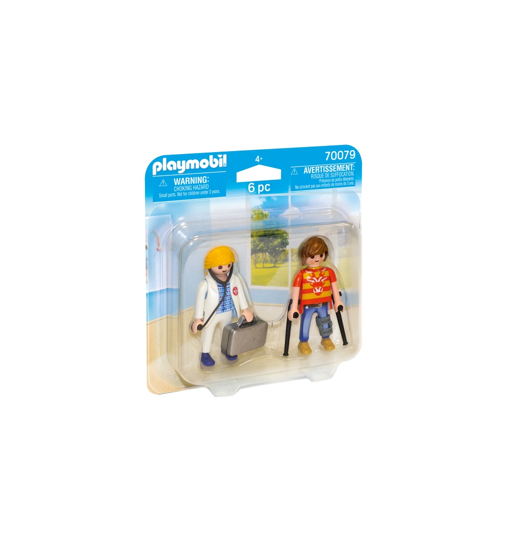 Set figurine doctor si pacient playmobil