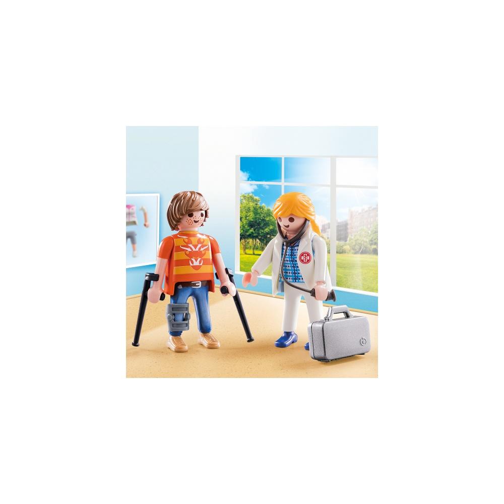Set figurine doctor si pacient playmobil - 2