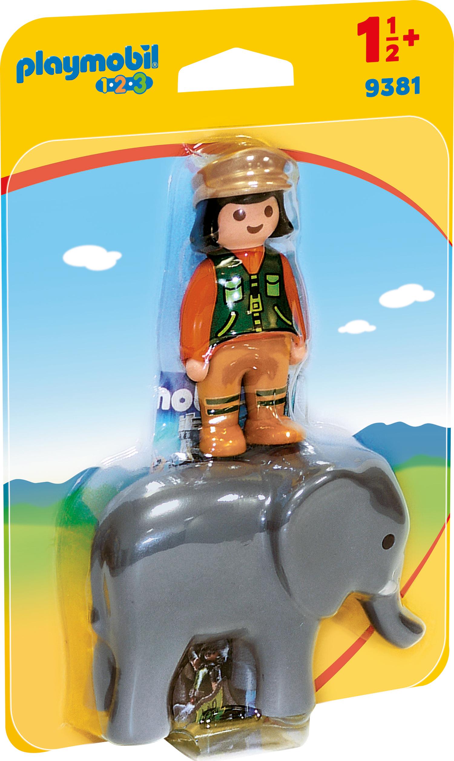 Ingrijitor zoo cu elefant playmobil 1.2.3