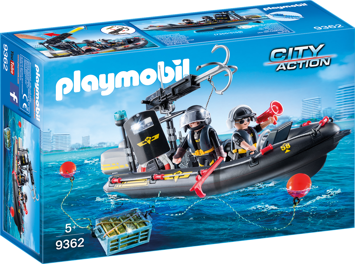 Barca echipei swat playmobil city action