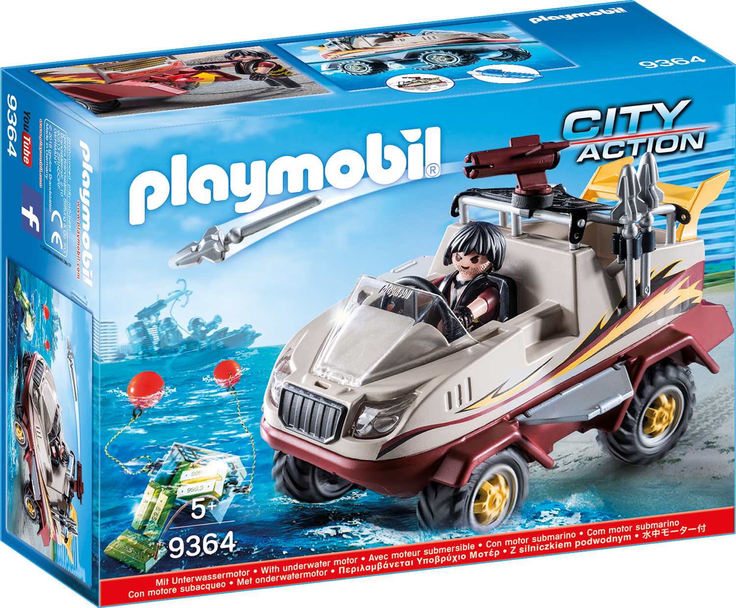 Camion amfibiu playmobil city action