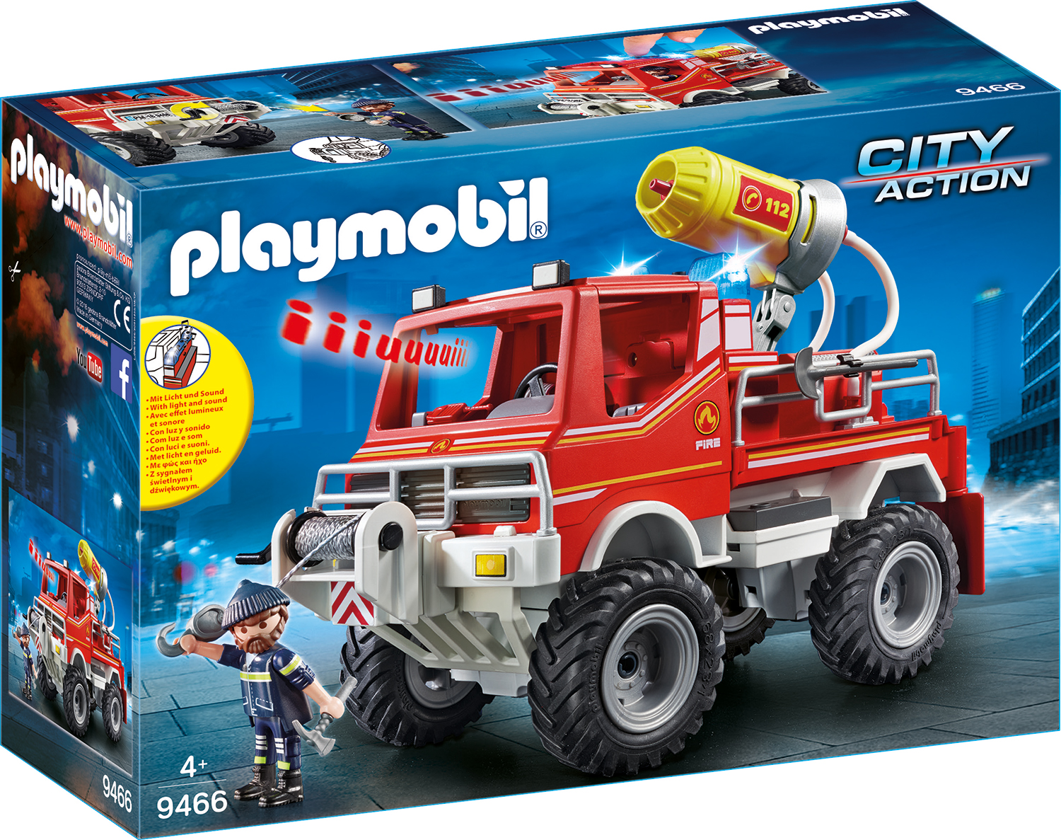 Camion de pompieri playmobil city action