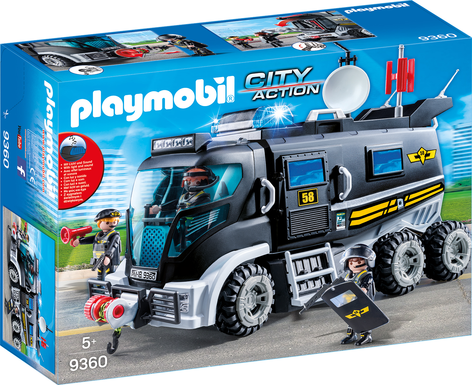 Camionul echipei swat playmobil city action