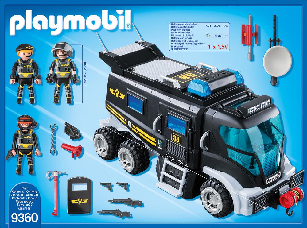 Camionul echipei swat playmobil city action - 1